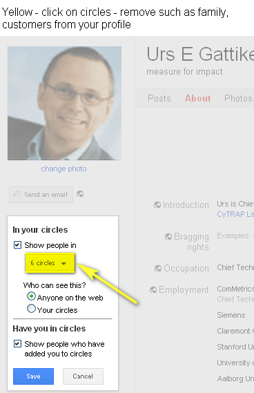Image - Google+ - PRIVACY - whose profile picture will be visible on your Google+ page - protect your family members and clients.
