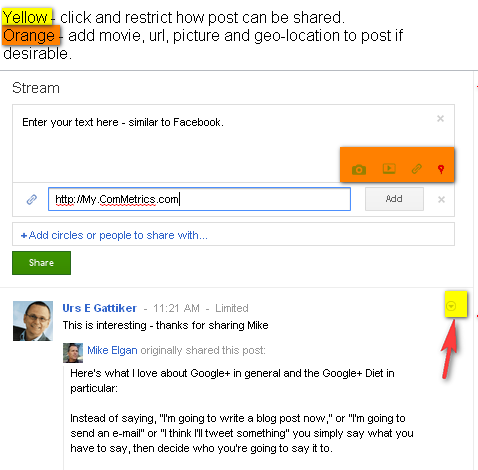 Image - Google+ - Deciding the subject of your blog post will determine which of your circles you might send it to, such as associates, family or customers.